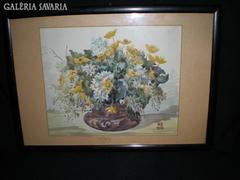Akvarell virágcsendélet