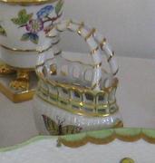 Herendi porcelán: Kis kosárka (Viktória mintás)