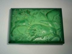 Kalcedon üveg doboz