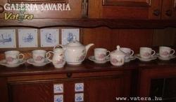 Kahla régi kelet -német 6személyes kávéskészlet