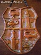 """Címer : """"N"""" monogrammal jelzett, számozott falikerámia"""