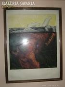 Skricka Ernst : akvarell - rézkarc 3.