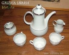Mitterteich Bavaria ezüstszegélyes teáskészlet