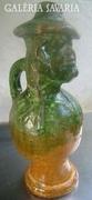 Mexikói kézműves kerámia kancsó - Sapkájánál jelzett