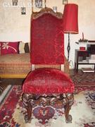 Faragott támlás szék 6 db