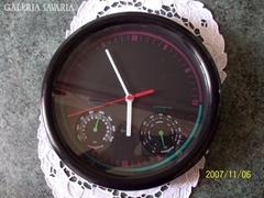 Fali óra,hőmérővel és hygrométerrel