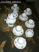 Barokk lengyel Wawel kávéskészlet