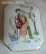 Kézzel festett olasz, jelzett bonbonier Ker-Artis