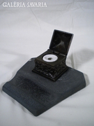 S669 Antik asztali spiáter tintatartó díszes
