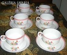 Hollóházi csészekészlet alátéttel- Teljes 6 személyes