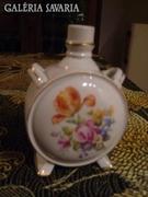 Nagyon szép, régi drasche kulacs, virág motívum