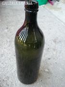 Régi sötétzöld  üveg palack