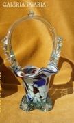 Színes üveg kosár