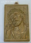 Jézus portré – réz falikép FCCE HOMO