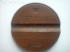 Gettone Telefonica /olasz telefonérme/