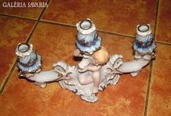 Puttós gyertyatartó Regal Crown fine porcelain (javított)