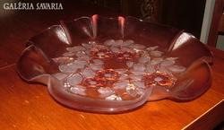 Dombormintás és festett csodás sütis üveg kínáló na