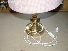 Sárgaréz ernyős asztali lámpa 60 cm
