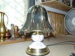 Sárgaréz ernyős asztali lámpa 35 cm