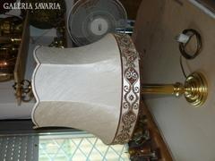 Sárgaréz ernyős asztali lámpa 74 cm