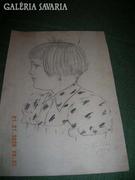 Ceruzarajz portré 2 db