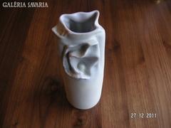 Hollóházi modern , művészi  , porcelán   váza, Bakó  - Hetey R.