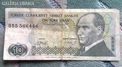 Török 10 Líra 1970
