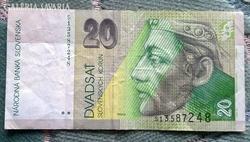 20 Szlovák Korona 2001- ből