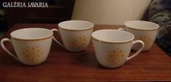 Antik zsolnay teás csészék – 4 db