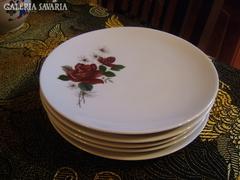 Virágmintás BAVARIA süteményes tányér készlet 5db