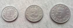 1953 as 1,2,5 aluminium Dínár!