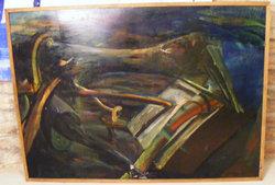 Czétényi János 90x120 cm plextoll-farost