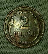Bronz 2 Fillér 1940