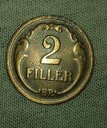 Bronz 2 Fillér 1934