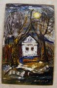 Szentmiklóssy Erzsébet 80x50 cm olaj-farost