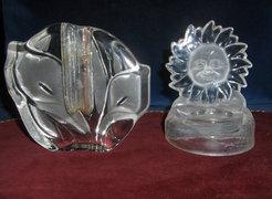 Különleges üveg váza és gyertyatartó együtt eladó