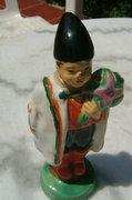 Antik figurális jelzett JK kerámia - nyakánál restaurál
