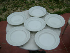 Antik Moritz Zdekauer  csehszlovák  fehér tányérok 6db