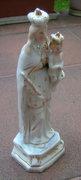 Antik kb. 100-150 éves szobor - Szűz Mária a Kisjézussal