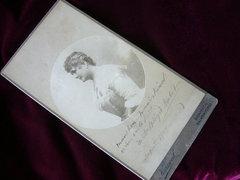 BLAHA LUJZA autográf fotója Balatonfüred 1909