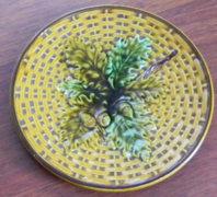 Antik jelzett Villeroy & Boch majolika tányér