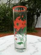 Antik kézzel festett súlyos bieder üveg váza