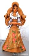R.Carbani Elmas olasz kerámia, női alak,szobor.