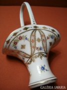 Drezdai porcelán kosárka