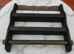 Antik kétsoros fűszertartó  falipolc kéztörlő tartóva