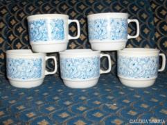 Zsolnay porcelán bögre - 5 db - együtt eladó