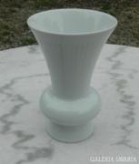 Fehér bordázott Bavaria Bareuther váza
