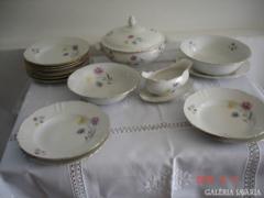 Kahla jelzett koronás porcelán 6 sz. étkészlet - hibátl