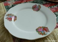 Barokk mintás jelzett kínai dísz tányér