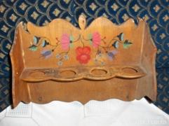 Régi, festett fali fűszertartó